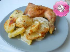 Cartofi cu smantana si mozzarella
